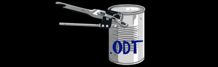 Ouvrir un fichier ODT